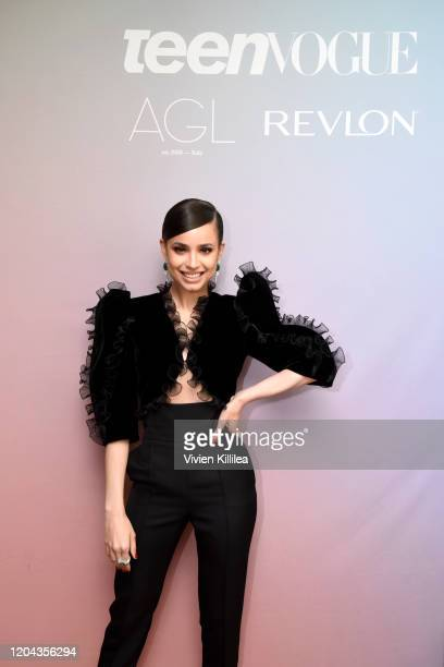 Sofia Carson attends Teen Vogue Celebrates Young Hollywood 2020 at San Vicente Bungalows on February 05, 2020 in West Hollywood, California.