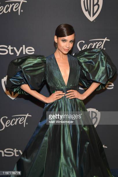 Sofia Carson attends The 2020 InStyle And Warner Bros 77th Annual Golden Globe Awards PostParty at The Beverly Hilton Hotel on January 05 2020 in...