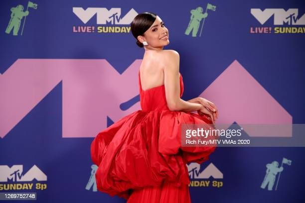 Sofia Carson attends the 2020 MTV Video Music Awards, broadcast on Sunday, August 30th 2020.