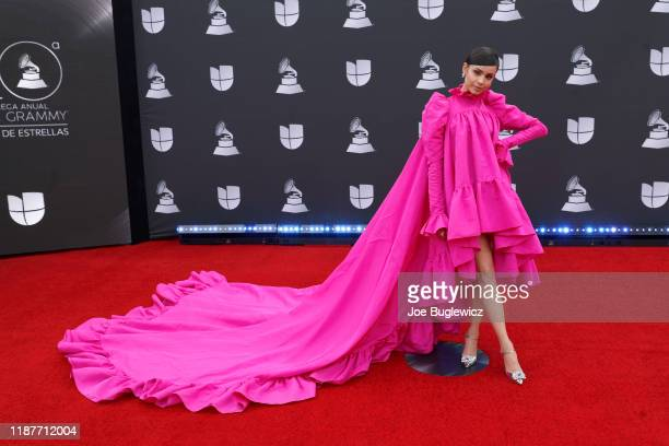 Sofia Carson attends the 20th annual Latin GRAMMY Awards at MGM Grand Garden Arena on November 14, 2019 in Las Vegas, Nevada.