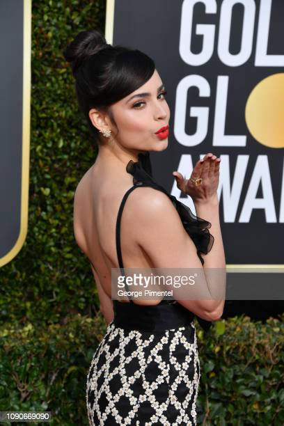 Sofia Carson attends the 76th Annual Golden Globe Awards held at The Beverly Hilton Hotel on January 06 2019 in Beverly Hills California