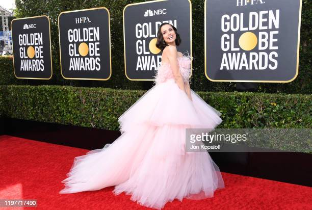Sofia Carson attends the 77th Annual Golden Globe Awards at The Beverly Hilton Hotel on January 05 2020 in Beverly Hills California