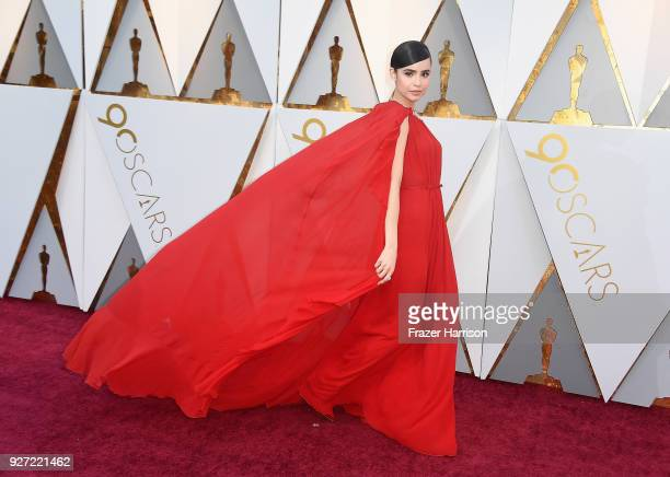 Sofia Carson attends the 90th Annual Academy Awards at Hollywood Highland Center on March 4 2018 in Hollywood California