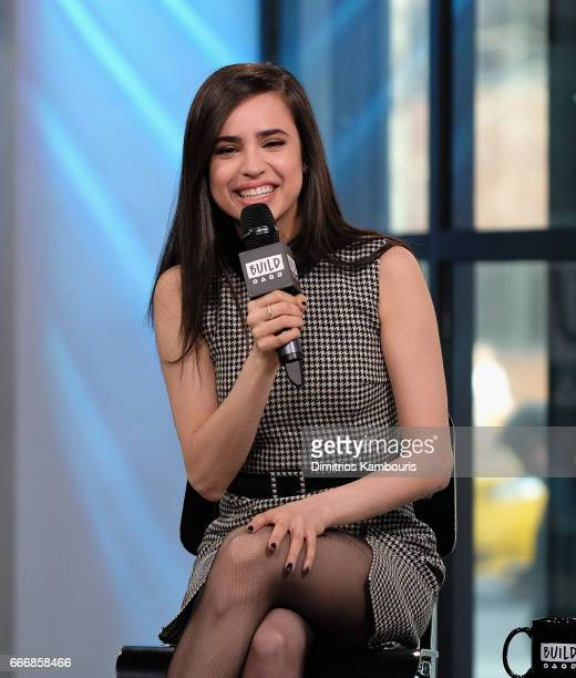 Sofia Carson attends the Build Series at the Build Studio on April 10 2017 in New York City