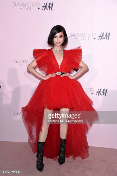 Sofia Carson attends the 'Giambattista Valli Loves HM' Show on October 24 2019 in Rome Italy