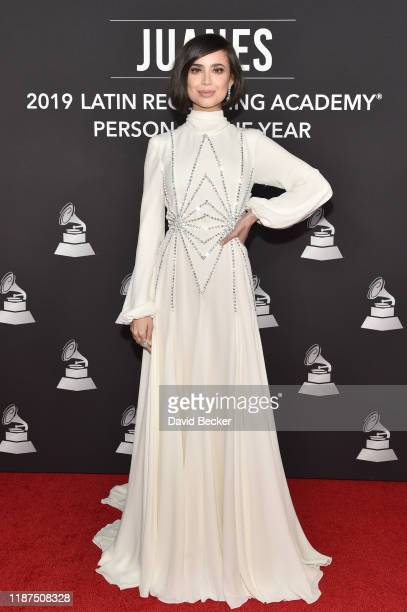 Sofia Carson attends the Latin Recording Academy's 2019 Person of the Year gala honoring Juanes at the Premier Ballroom at MGM Grand Hotel Casino on...