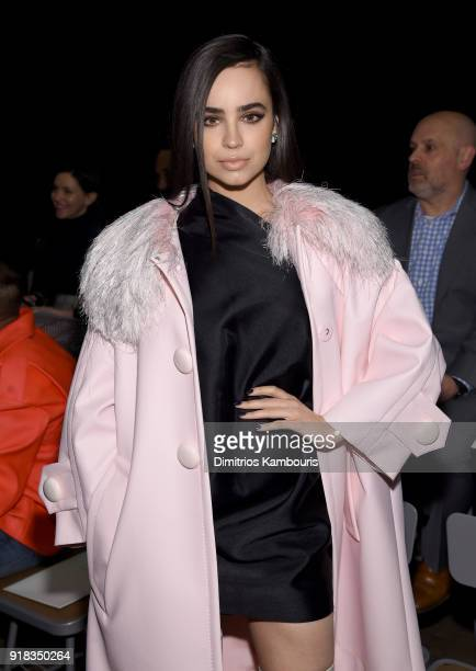 Sofia Carson attends the Marc Jacobs Fall 2018 Show at Park Avenue Armory on February 14 2018 in New York City
