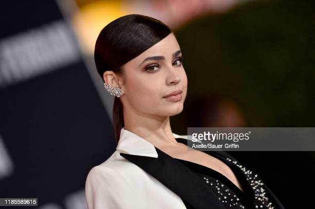 Sofia Carson attends the Premiere of FOX's Ford v Ferrari at TCL Chinese Theatre on November 04 2019 in Hollywood California
