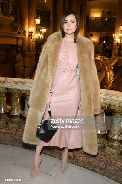 Sofia Carson attends the Stella McCartney show as part of the Paris Fashion Week Womenswear Fall/Winter 2019/2020 on March 04 2019 in Paris France