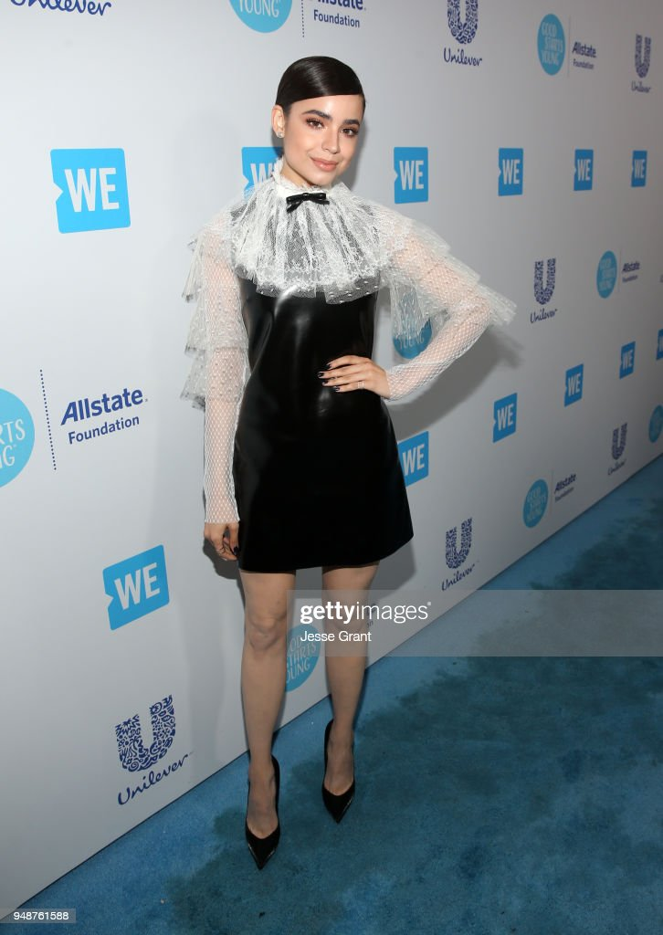 Sofia Carson attends WE Day California at The Forum on April 19, 2018 in Inglewood, California.