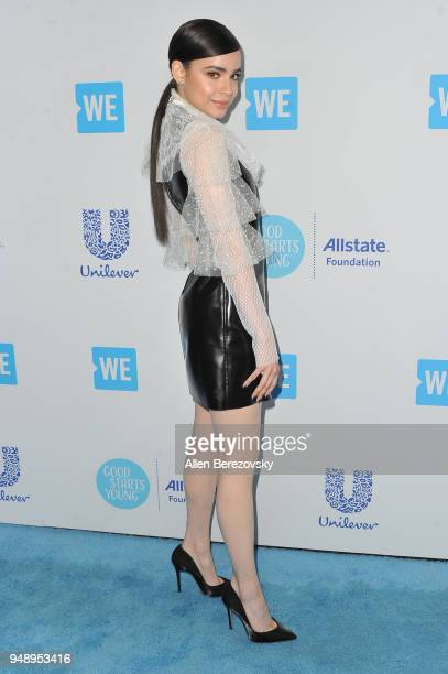 Sofia Carson attends WE Day California at The Forum on April 19 2018 in Inglewood California