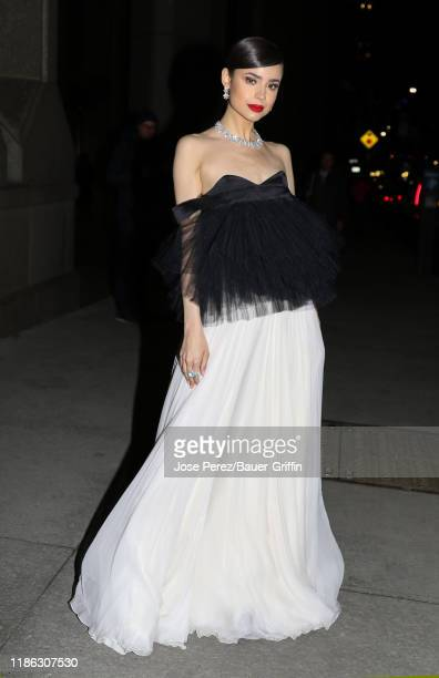 Sofia Carson is seen on December 03 2019 in New York City