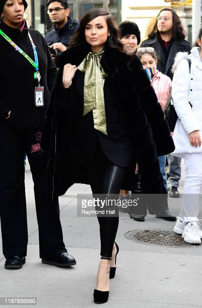 Sofia Carson is seen outside Build studio on January 30, 2020 in New York City.