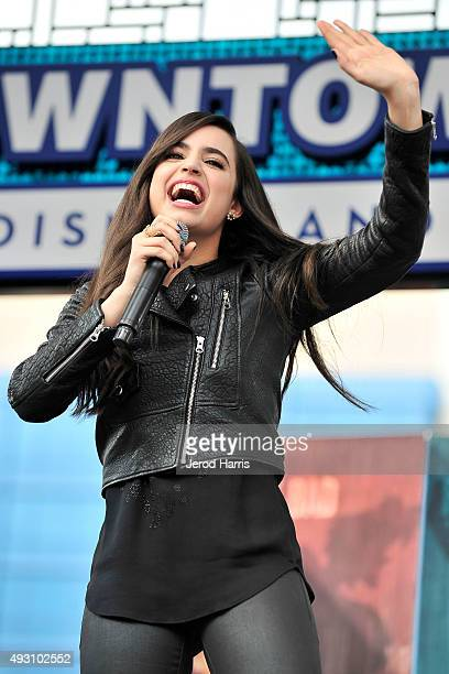 Sofia Carson of Disney's 'Descendants' perform and join fans at Downtown Disney at Disneyland Resort on October 17 2015 in Anaheim California