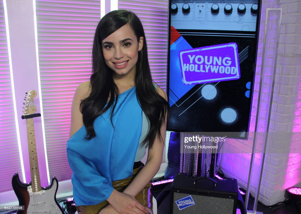 Sofia Carson Visits Young Hollywood Studio