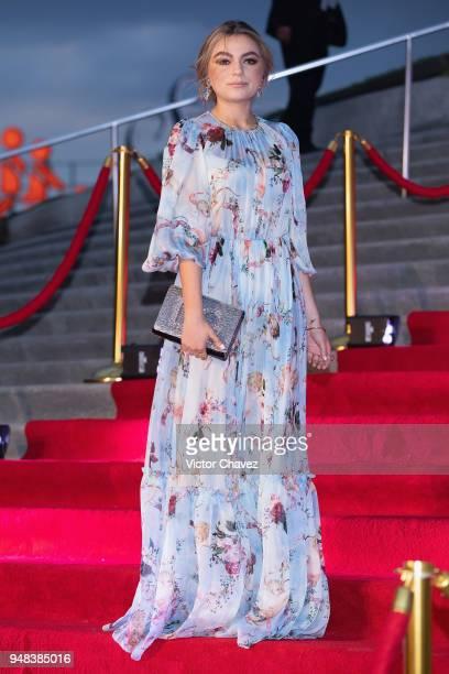 Sofia Castro attends the Dolce Gabbana Alta Moda and Alta Sartoria collections fashion show at Soumaya Museum on April 18 2018 in Mexico City Mexico