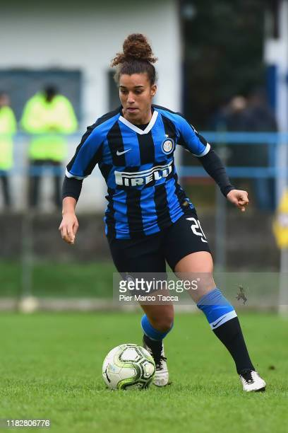 Sofia Colombo of FC Internazionale Women in action during the Women Serie A match between FC Internazionale and Orobica at Campo Sportivo F Chinetti...