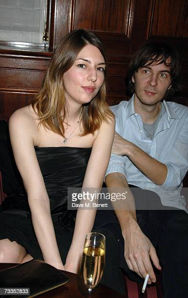 Sofia Coppola and boyfriend Thomas Mars attend the after party following the Marc Jacobs fashion show celebrating the opening of his first London...
