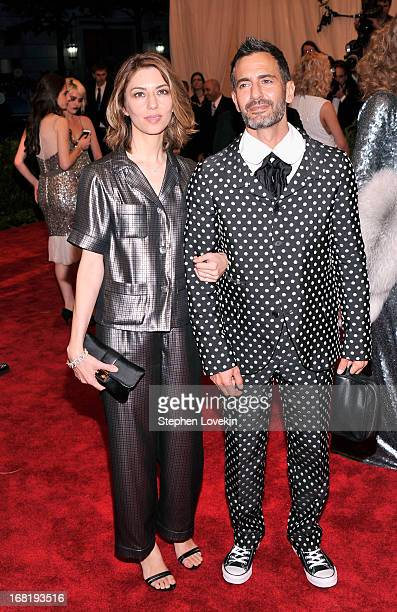 "Sofia Coppola and designer Marc Jacobs attend the Costume Institute Gala for the ""PUNK: Chaos to Couture"" exhibition at the Metropolitan Museum of..."