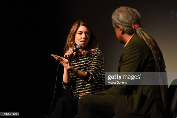 Sofia Coppola and Elvis Mitchell attend the 2017 Los Angeles Film Festival Lost In Translation and The Beguiled screenings at LACMA on June 15 2017...