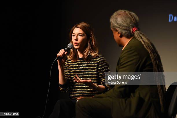 """Sofia Coppola and Elvis Mitchell attend the 2017 Los Angeles Film Festival - """"Lost In Translation"""" and """"The Beguiled"""" screenings at LACMA on June 15,..."""