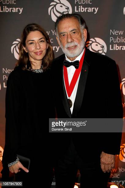 Sofia Coppola and Francis Ford Coppola attend the New York Public Library 2018 Library Lions Gala at the New York Public Library at the Stephen A....