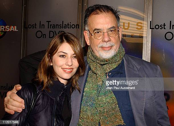Sofia Coppola and Francis Ford Coppola during Lost in Translation DVD Launch Party at Koi Restaurant in Los Angeles California United States