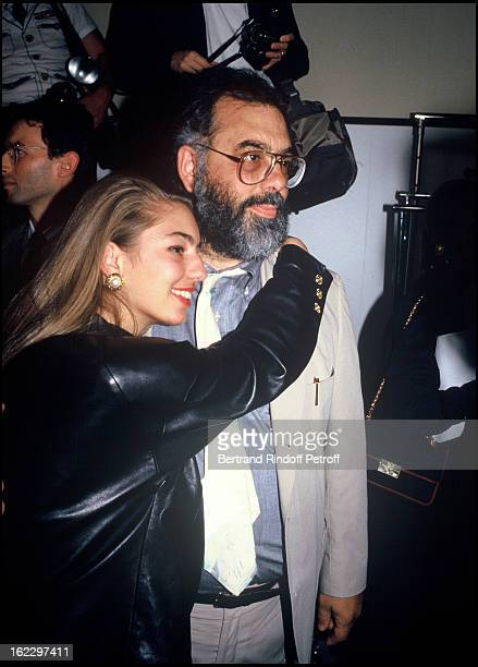 Sofia Coppola and her father Francis Ford Coppola at the Chanel 1988 Fall/Winter Collection Fashion Show