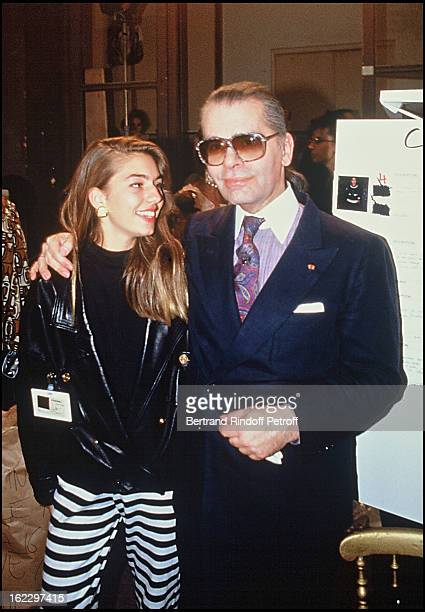 Sofia Coppola and Karl Lagerfeld at the Chanel 1988 Fall/Winter Collection Fashion Show