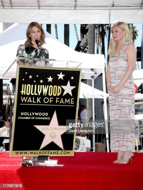 Sofia Coppola and Kirsten Dunst attend the ceremony honoring Kirsten Dunst with a star on the Hollywood Walk of Fame on August 29 2019 in Hollywood...