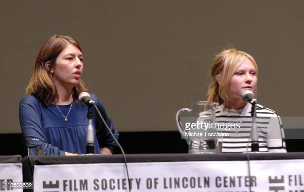 """Sofia Coppola and Kirsten Dunst during The 44th New York Film Festival - """"Marie Antoinette"""" Press Conference at Alice Tully Hall in New York City,..."""
