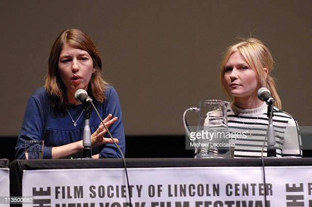 Sofia Coppola and Kirsten Dunst during The 44th New York Film Festival 'Marie Antoinette' Press Conference at Alice Tully Hall in New York City New...
