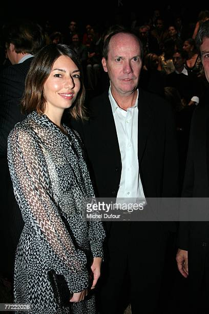 Sofia Coppola and Richard Prince attends the Louis Vuitton fashion show, during the Spring/Summer 2008 ready-to-wear collection show at Cour carree...