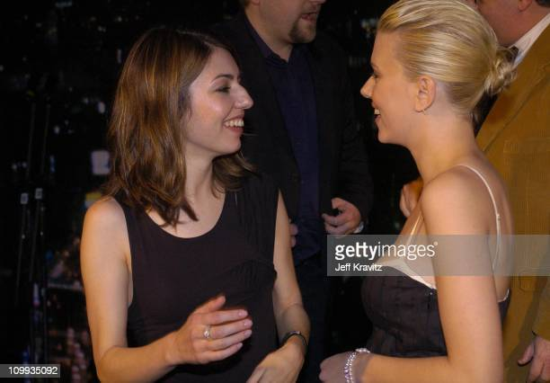 Sofia Coppola and Scarlett Johansson during Lost in Translation DVD Launch Party Inside at Koi Restaurant in Los Angeles California United States