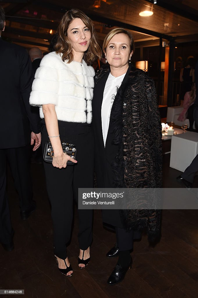 Sofia Coppola and Silvia Venturini Fendi attend Palazzo FENDI And ZUMA Inauguration on March 10, 2016 in Rome, Italy.