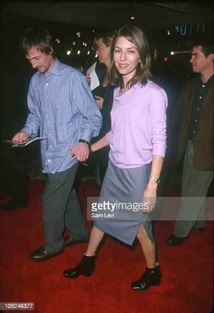 Sofia Coppola and Spike Jonze during Fight Club Los Angeles Premiere at Mann's Village Theater in Westwood California United States