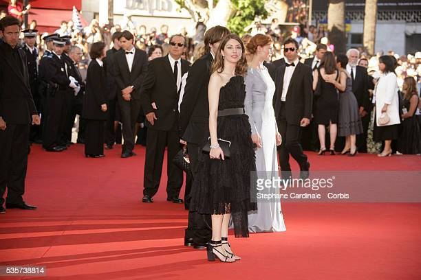 Sofia Coppola and the cast of the film at the premiere of 'MarieAntoinette' during the 59th Cannes Film Festival