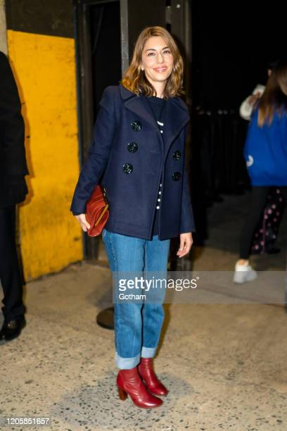 Sofia Coppola arrives at the Marc Jacobs fashion show at the Park Avenue Armory on February 12, 2020 in New York City.