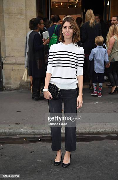 Sofia Coppola arrives at the Sonia Rykiel show during Paris Fashion Week Womenswear SS 2015 on September 29 2014 in Paris France