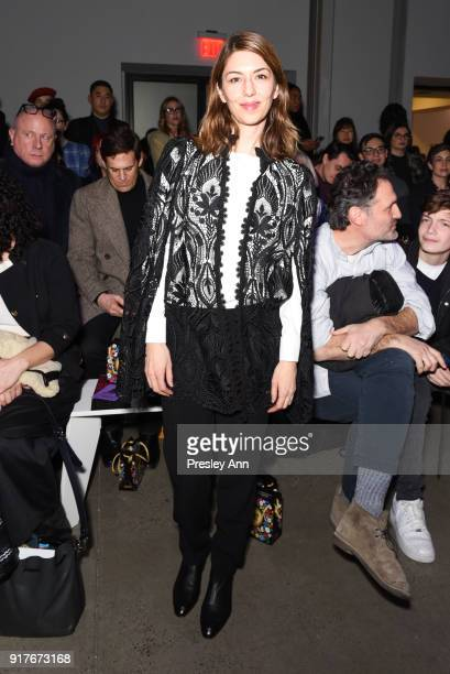 Sofia Coppola attends Anna Sui Front Row February 2018 New York Fashion Week at Spring Studios on February 12 2018 in New York City