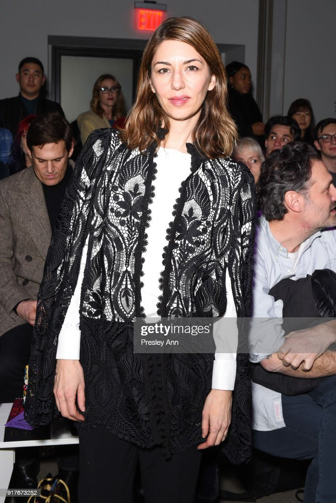 Sofia Coppola attends Anna Sui - Front Row - February 2018 - New York Fashion Week: at Spring Studios on February 12, 2018 in New York City.
