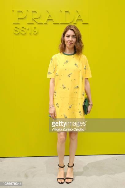 Sofia Coppola attends Prada Spring/Summer 2019 Womenswear Fashion Show on September 20, 2018 in Milan, Italy.