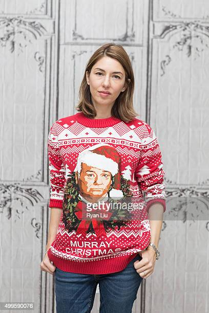 sofia coppola attends the aol build presents sofia coppola a very murray christmas at