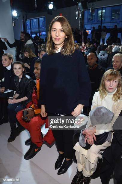 Sofia Coppola attends the Calvin Klein Collection Front Row during New York Fashion Week on February 10 2017 in New York City