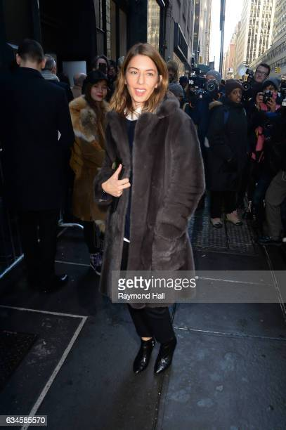 Sofia Coppola attends the Calvin Klein Collection Front Row during New York Fashion Weekon February 10 2017 in New York City