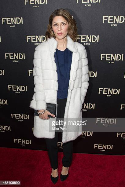 Sofia Coppola attends the Fendi New York Flagship Boutique Inauguration Party during Mercedes Benz Fashion Week Fall 2015 at Fendi Madison Avenue on...