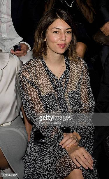 Sofia Coppola attends the Louis Vuitton Fashion Show, during the Spring/Summer 2008 ready-to-wear collection show at Cour carree du Louvre on October...