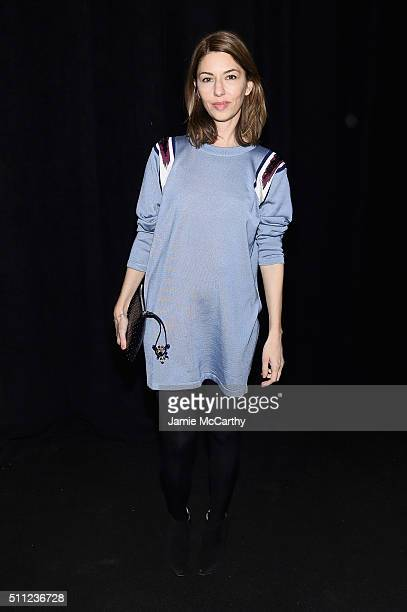 Sofia Coppola attends the Marc Jacobs Fall 2016 fashion show during New York Fashion Week at Park Avenue Armory on February 18 2016 in New York City