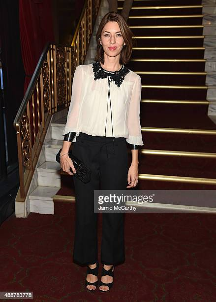 Sofia Coppola attends the Marc Jacobs Spring 2016 fashion show during New York Fashion Week at Ziegfeld Theater on September 17 2015 in New York City