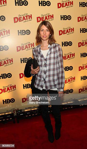 Sofia Coppola attends the premiere of HBO's Bored to Death at the Clearview Chelsea Cinemas on September 10 2009 in New York City
